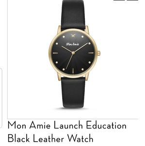 Mon Amie Black and Gold Watch